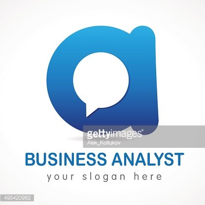 Business analyst letter A logo