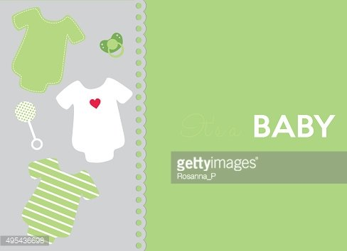 different objects for a little baby on light background