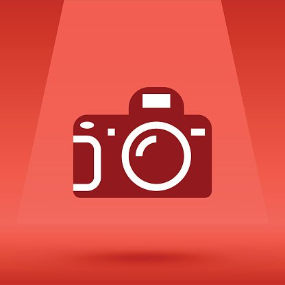 Photo Camera and opened flash vector illustration