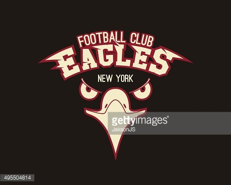 Eagle sport tee graphic. Stylish design for american, european football