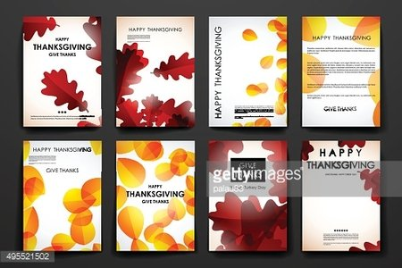 Set of brochure, poster design templates in autumn style