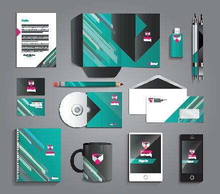 Vector graphic professional identity design for your company