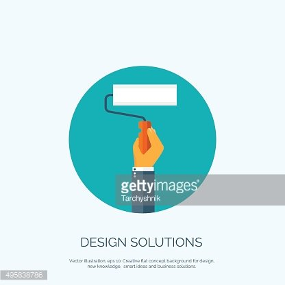 Vector illustration, flat concept background for design with hand and