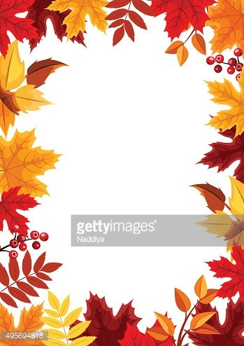Background with colorful autumn leaves. Vector illustration.