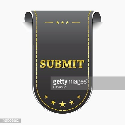 Submit golden Vector Icon Design