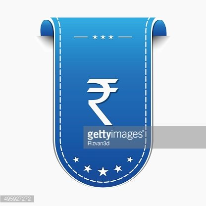 Rupee Sign Vector Icon Design