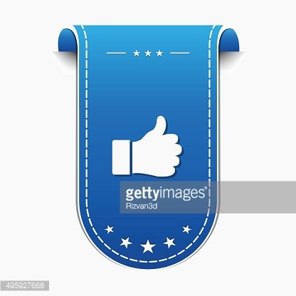 Thumbs Up blue Vector Icon Design