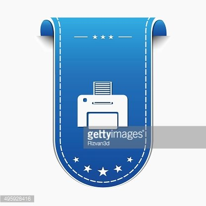 Printer blue Vector Icon Design