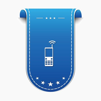 Phone blue Vector Icon Design