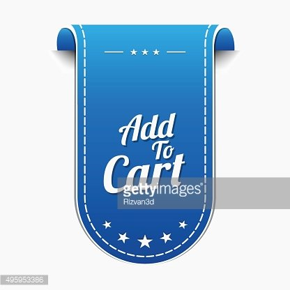 Add To Cart Blue Vector Icon Design