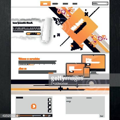 Business Website Template Design Vector