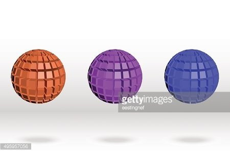 3D Sphere abstract. Vector illustration.