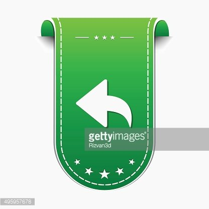 Round Arrow Green Vector Icon Design