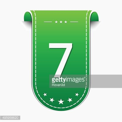 7 Number Vector Green Web Icon
