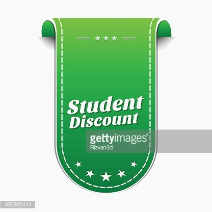 Student Discount Green Vector Icon Design