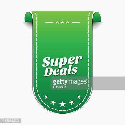 Super Deals Green Vector Icon Design