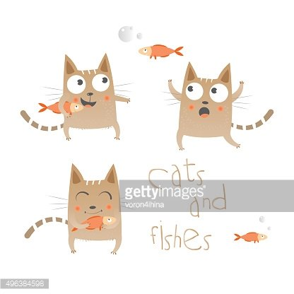 Cats and fishes.