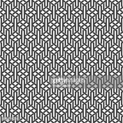 Seamless pattern of intertwined sophisticated geometric shapes