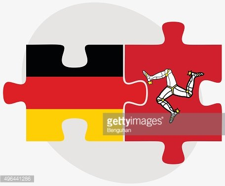 Germany and Isle of Man Flags