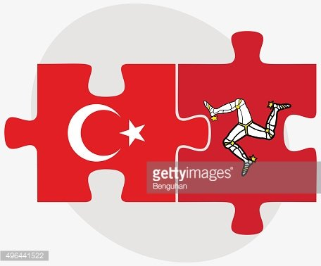 Turkey and Isle of Man Flags