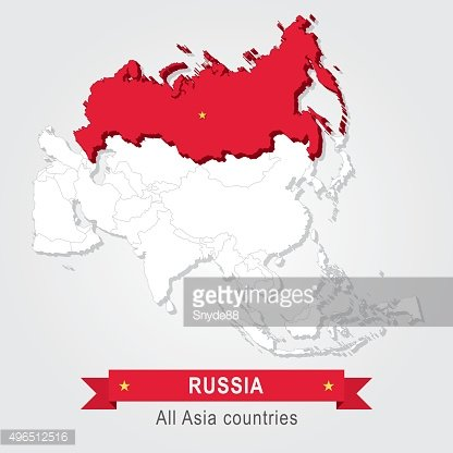 Russia. All the countries of Asia.