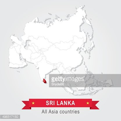 Sri Lanka. All the countries of Asia.
