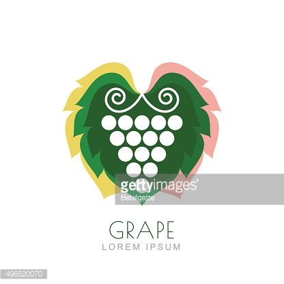 Vector grape vine and colorful leaves