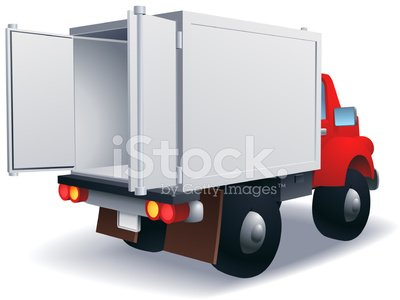 Delivery Truck 3D Open