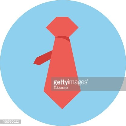 Necktie Colored Vector Illustration