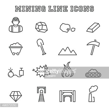 mining line icons