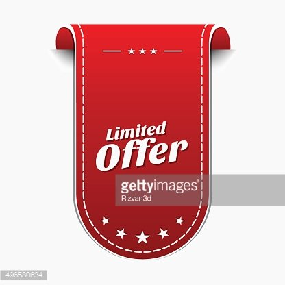 Limited Time Offer Red Vector Icon Design
