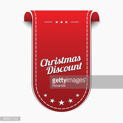 Christmas Discount Red Vector Icon Design