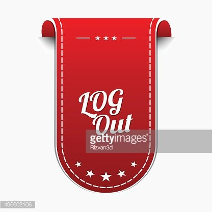 Log Out Red Vector Icon Design