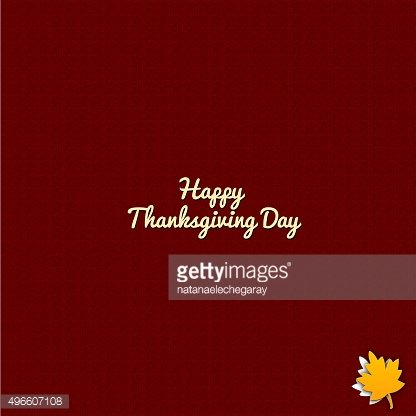 Happy thanksgiving day illustration on red background