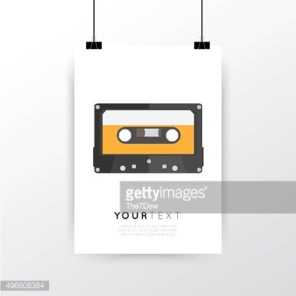 A4 / A3 format poster minimal abstract Tape Cassette design