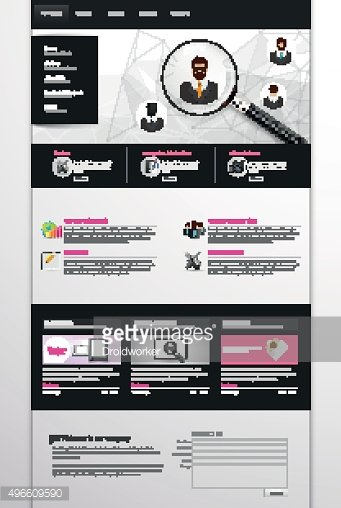 One Page Vector Website Template Design Eps 10