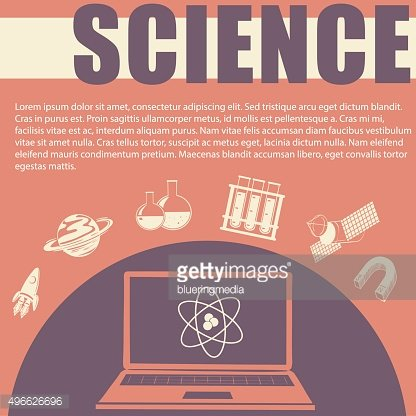 Science theme with text and symbols