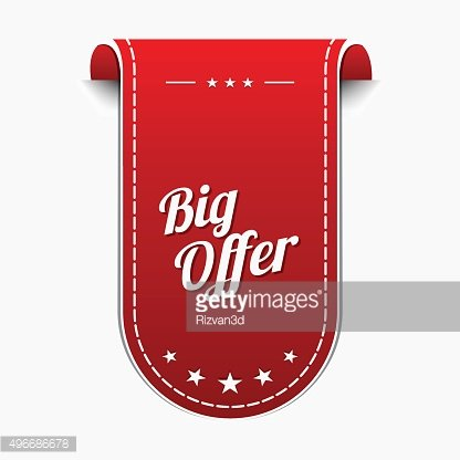 Big Offer Red Vector Icon Design