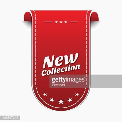 New Collection Red Vector Icon Design