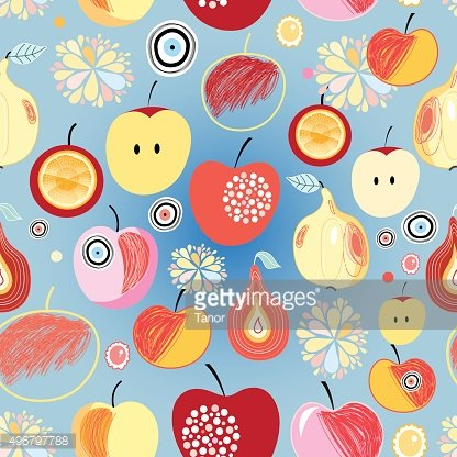 pattern of apples and pears