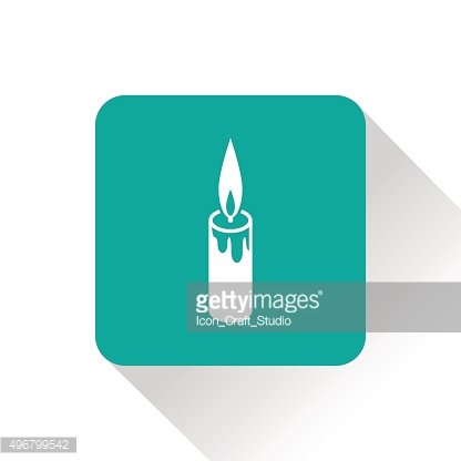 candle isometric 3d icon
