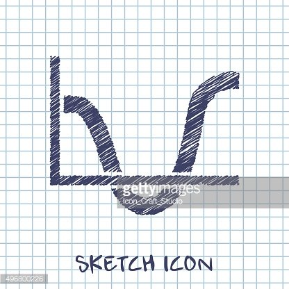 chart business vector sketch icon