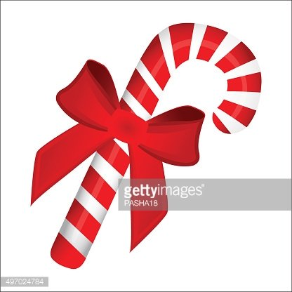 sweet traditional Christmas candy cane