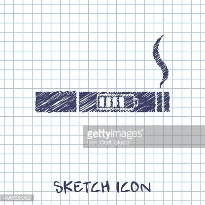 electronic cigarettes vector sketch icon
