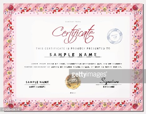Christmas Certificate Border.Christmas Certificate Template With Border As Xmas Happy New