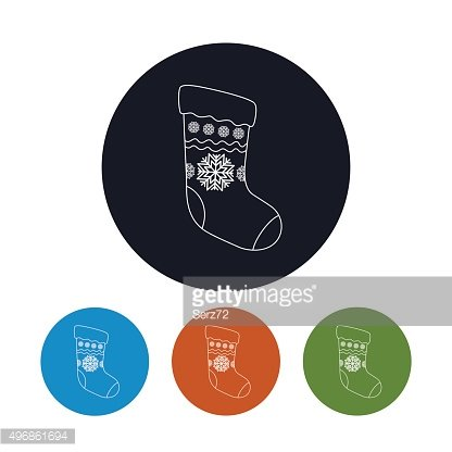 Icon of a Christmas Sock