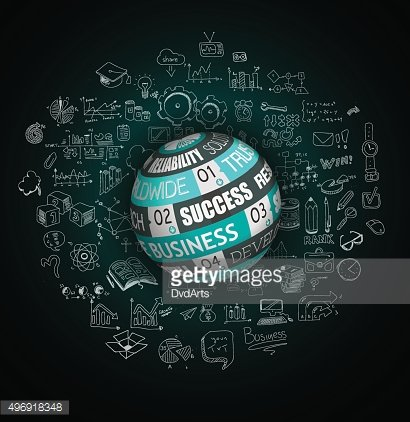 Success in Business conceptual background