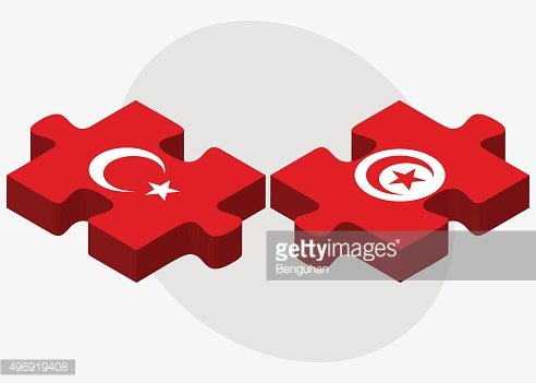 Turkey and Tunisia Flags