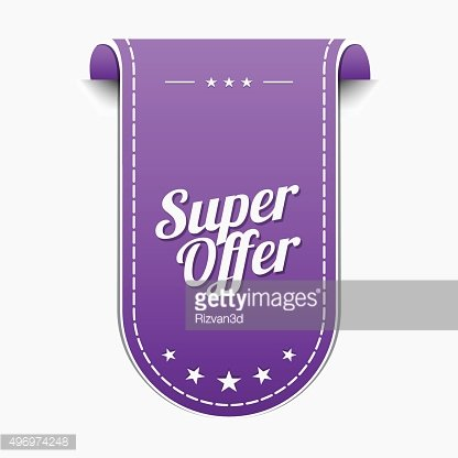 Super Offer Violet Vector Icon Design