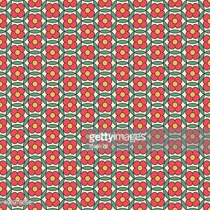 Traditional Japanese seamless pattern with modern elements.